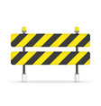 road barrier icon vector image vector image