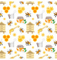 seamless pattern with honey vector image vector image