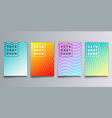 set colorful gradient cover with waves for vector image