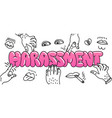 sexual harassment concept with the vector image