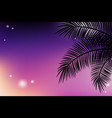 summer tropical backgrounds with palms and sunset vector image vector image
