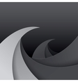 Swirly black and grey paper waves background vector image vector image