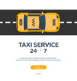 taxi service taxi car flat vector image vector image