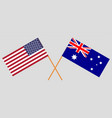 the australian and united states america flags vector image vector image