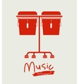 timbal instrument isolated icon design vector image vector image