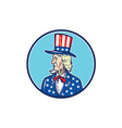 Uncle Sam Top Hat American Flag Cartoon vector image vector image