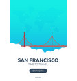 Usa san francisco time to travel travel poster
