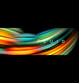 wave fluid flowing colors motion effect vector image vector image