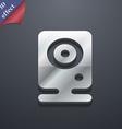 Web cam icon symbol 3D style Trendy modern design vector image
