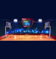 weekend evening game on basketball stadium vector image