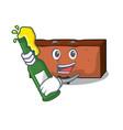 with beer brick mascot cartoon style vector image