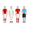 world cup group a jerseys kit vector image vector image