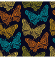 zentangle stylized butterfly seamless pattern vector image vector image