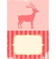 retro of christmas deer vector image