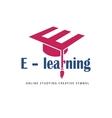 E learning logo template vector image