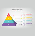 3d pyramid infographic template with 4 step or vector image