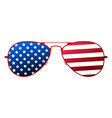 american glasses icon happy 4 th july and vector image vector image