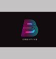 b letter design logo with creative modern trendy vector image