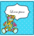 Background with bear toy vector image vector image