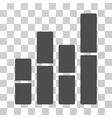 Bar Charts Icon vector image vector image