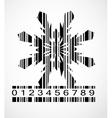 Barcode Snowflake Image vector image