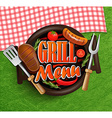 BBQ Grill menu vector image vector image