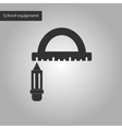 black and white style icon of pencil ruler vector image vector image