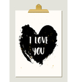 Black Heart Typographic Poster vector image vector image