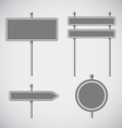 Blank grey metal arrow boards collecion vector image vector image