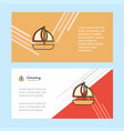 boat abstract corporate business banner template vector image vector image