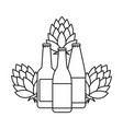 bottle of beer isolated icon vector image