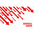 business downfall arrow showing downward trend vector image