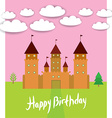 Card With Castle princess fairytale landscape vector image vector image