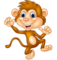 Cartoon monkey silly face vector image vector image