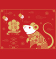 chinese new year 2020 happy new year greetings vector image