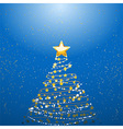 Christmas tree over blue vector image vector image