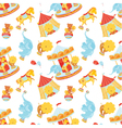 Circus pattern with animals vector | Price: 1 Credit (USD $1)