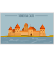 City buildings graphic template Lithuania vector image vector image