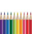 colored crayons vector image vector image