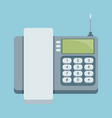 cordless phone flat icon flat icon of phone with vector image