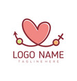 date love and valentine logo design vector image