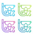 diving icon gradient line logo isolated on white vector image vector image