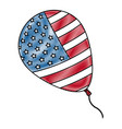 drawing balloon flag american decoration event vector image