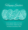 easter eggs set collection on turquoise background vector image vector image
