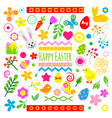 easter holiday icons vector image vector image