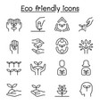 eco friendly conservation saving nature ecology vector image vector image
