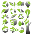 ecology green icons vector image vector image