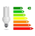 energy efficiency light bulb vector image vector image