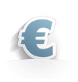 euro icon paper vector image vector image