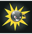 Evil Round Bomb2 vector image vector image